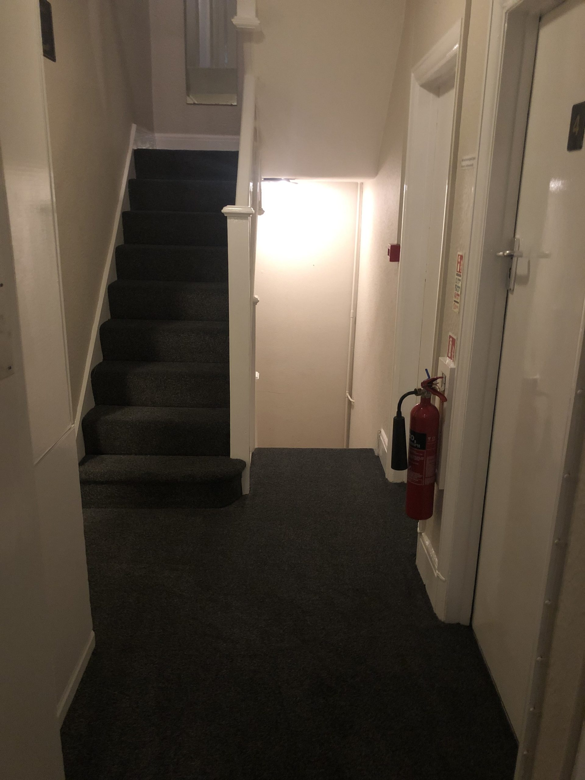 Our landing and stairway
